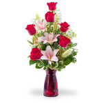 Bouquet di rose e lilium BF23